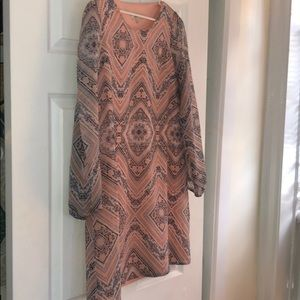 Cute boho dress long sleeve size small